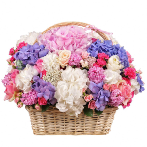 """Цветы в корзинке """"Цветочный бульвар"""""""